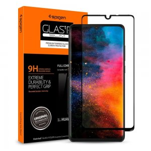 Szkło hartowane Spigen GLAS.tR Slim Huawei P30 Full Cover Case Friendly