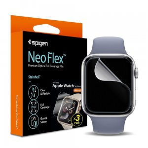 3x Folia Spigen Neo Flex HD Apple Watch 4 (44mm)