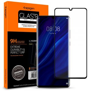 Szkło hartowane Spigen GLAS.tR Slim Huawei P30 Pro Full Cover Case Friendly
