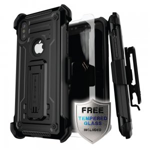 Etui Ghostek Iron Armor 2 iPhone XS 5.8 Black + Szkło