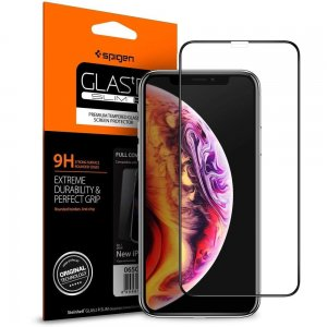 Szkło hartowane Spigen GLAS.tR TC 3D Full Cover Case Friendly iPhone 11 Pro Max/XS Max
