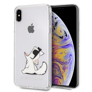 Karl Lagerfeld KLHCI65CFNRC iPhone Xs Max hardcase transparent Choupette Fun