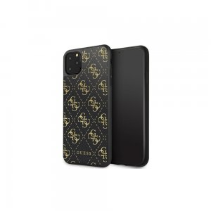 Guess GUHCN654GGPBK iPhone 11 Pro Max czarny/black hard case 4G Double Layer Glitter