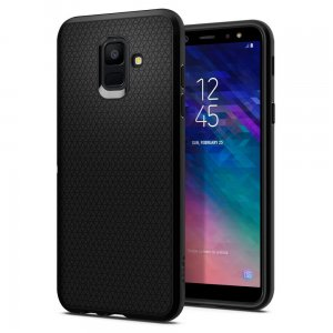Etui Spigen Liquid Air Armor Samsung Galaxy A6 2018 Black - Outlet