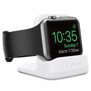 Podstawka do ładowarki Apple Watch 5/4/3/2/1 Spigen S350 Night Stand White - Outlet
