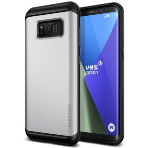 Etui VRS Design Hard Drop Samsung Galaxy S8 Plus Light Silver