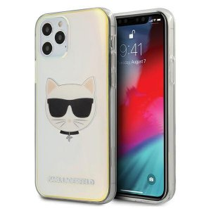 Etui Karl Lagerfeld KLHCP12LCIR Apple iPhone 12 Pro Max multicolor hardcase Iridescent Choupette
