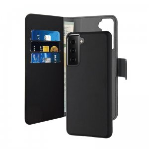Etui PURO Wallet Detachable 2w1 Samsung Galaxy S21+ Plus (czarny)