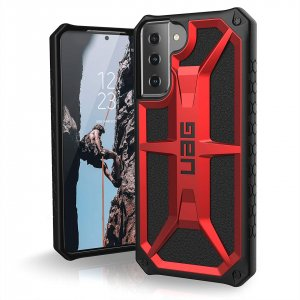 Etui UAG Urban Armor Gear Monarch Samsung Galaxy S21+ Plus 5G (crimson)