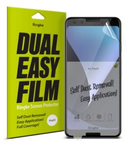 Folia Ringke Dual Easy Full Cover Google Pixel 3 Case Friendly