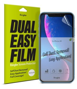 Folia Ringke Dual Easy Full Cover iPhone XR 6.1 Case Friendly
