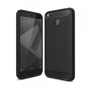 ETUI CARBON XIAOMI REDMI 4X PROTECT COVER CASE BLACK