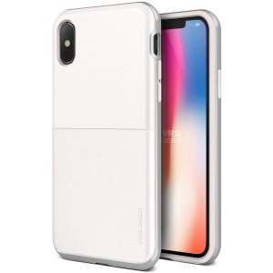 Etui VRS Design High Pro Shield S iPhone X White Silver