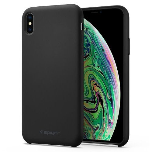 Etui Spigen Silicone Fit iPhone XS Max 6.5 Black