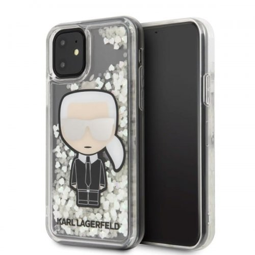Karl Lagerfeld KLHCN61GLGIRKL iPhone 11 hardcase Ikonik Glitter Glow in the dark