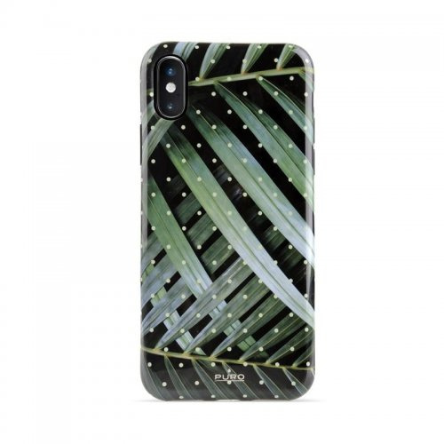 Etui PURO Glam Tropical Leaves Apple iPhone XS/X (Brilliant Leaves)