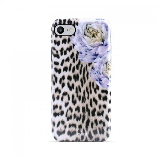Etui PURO Glam Sweet Leopard Apple iPhone SE 2020/8/7/6s (Leo Peonies)