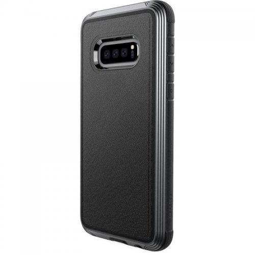 Etui aluminiowe X-Doria Defense Lux Samsung Galaxy S10e (Drop test 3m) (Black Leather)