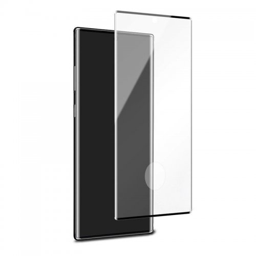 Szkło hartowane PURO Premium Full Edge Tempered Glass Case Friendly Samsung Galaxy Note 10 (czarna ramka)