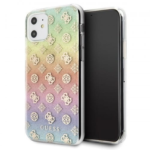 Guess GUHCN61PEOML iPhone 11 multicolor hard case Iridescent 4G Peony