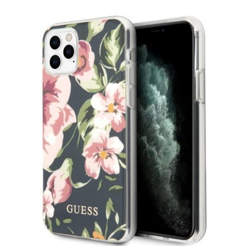 Etui Guess GUHCN58IMLFL03 Apple iPhone 11 Pro granatowy/navy N°3 Flower Collection
