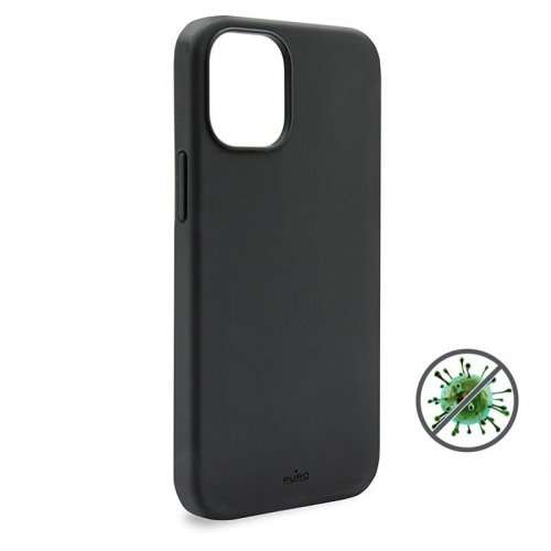 Etui PURO ICON Anti-Microbial Cover Apple iPhone 12 Pro Max (czarny)