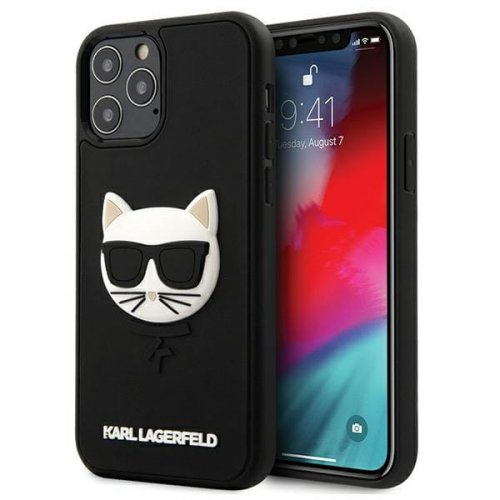 Etui Karl Lagerfeld KLHCP12LCH3DBK Apple iPhone 12 Pro Max czarny/black hardcase 3D Rubber Choupette