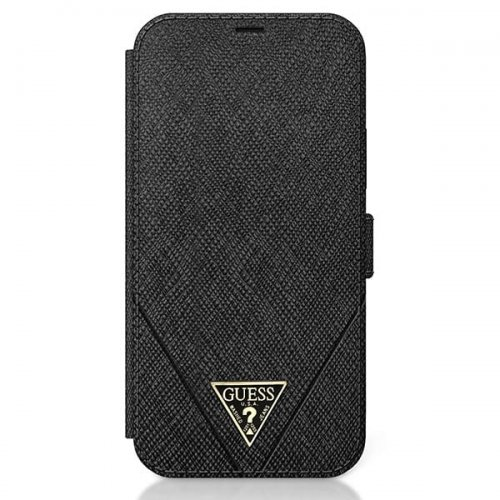 Etui Guess GUFLBKP12LVSATMLBK Apple iPhone 12 Pro Max czarny/black book Saffiano