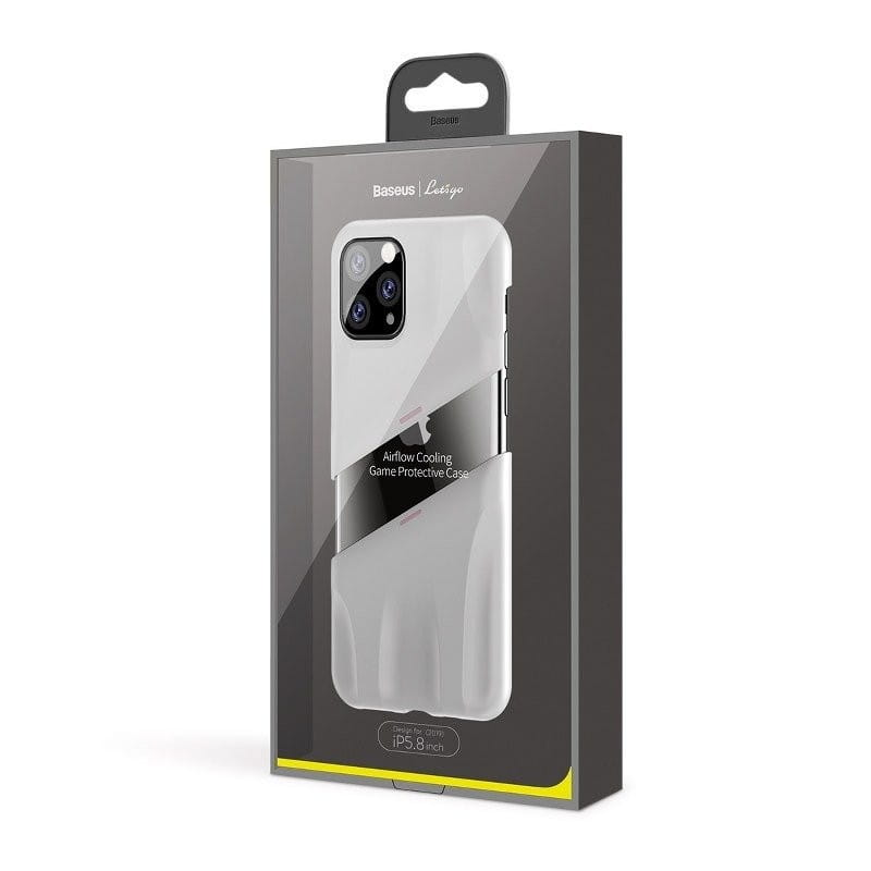 Etui Baseus Let's go Airflow CoolingGame Apple iPhone 11 Pro Biało-różowe