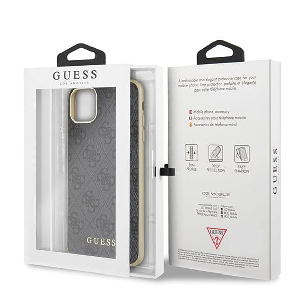Etui Guess GUHCN65G4GG iPhone 11 Pro Max szary/grey hard case 4G Collection w opakowaniu.